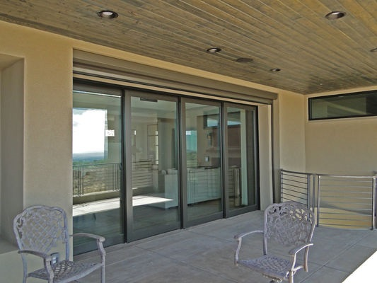 multi-slide patio doors perfect for entertaining in Albuquerque desert