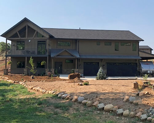 durango home gets wood special shape, casement and awning windows