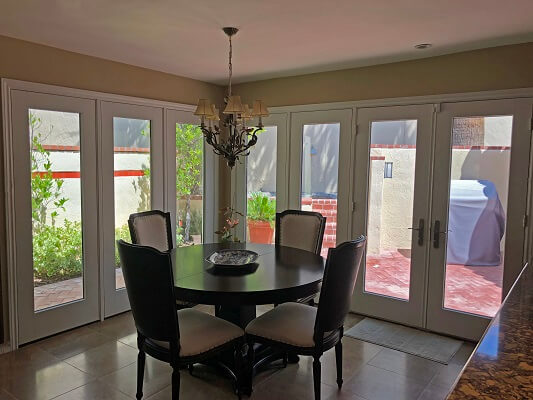 El Paso Home Gets New Wood Casement Windows And French Hinged Patio Doors