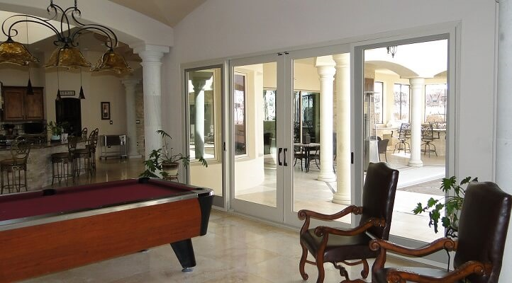 sliding patio doors on albuquerque home