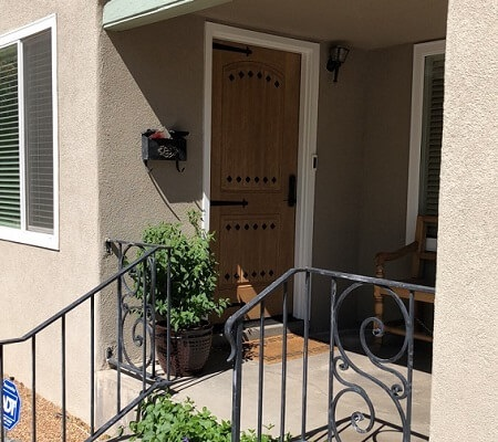 Nob hill home gets replacement rustic entry door for Rustic home albuquerque