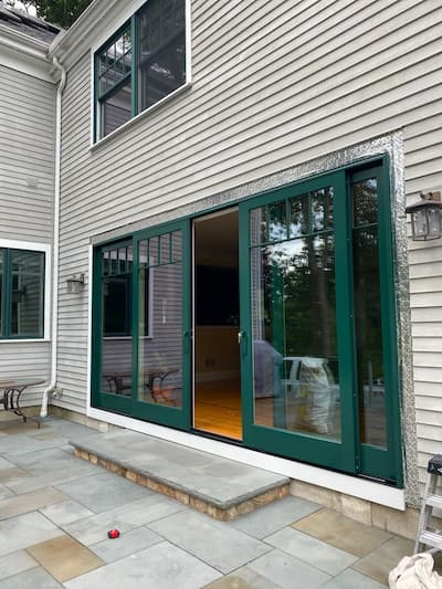 Four-Panel Sliding Patio Door Opens Up Lexington Home