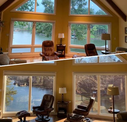 Picture Windows Offer Breathtaking Smith Mountain Lake Views