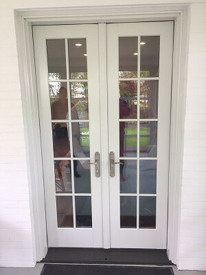Wood french door replacement in 1940 39 s fairacres ne home for French doors exterior inswing