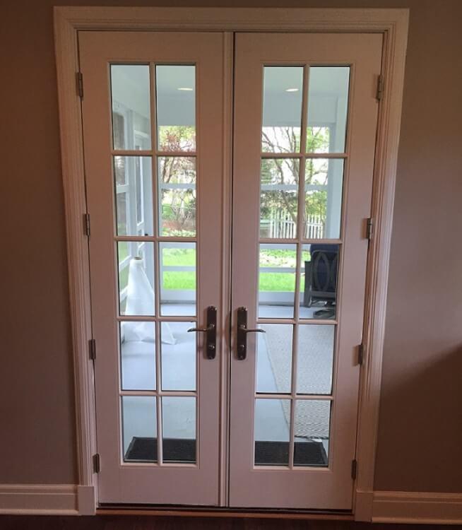 Wood french door replacement in 1940 39 s fairacres ne home Exterior french doors jacksonville fl
