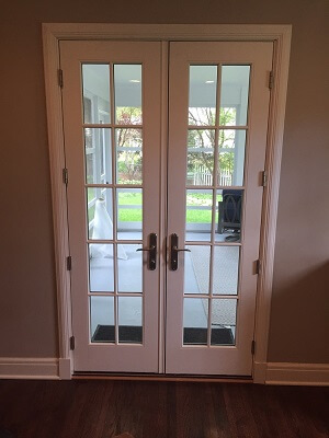 interior look of omaha home new french doors