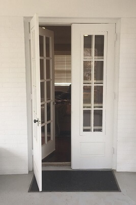 Swinging Door Before Picture In Omaha Home