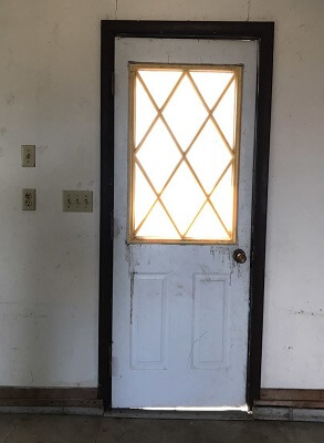 Contemporary Entry Door Replacement For Rental Property Before