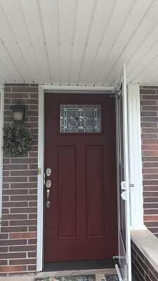 Contemporary Wood Door Replacement After