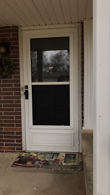 Contemporary Wood Door Replacement Before