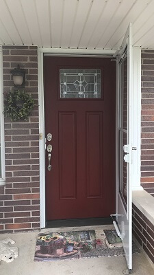 Contemporary Wood Entry Door Brings New Life to Entryway