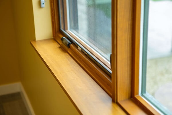 wood casement windows in hope lodge