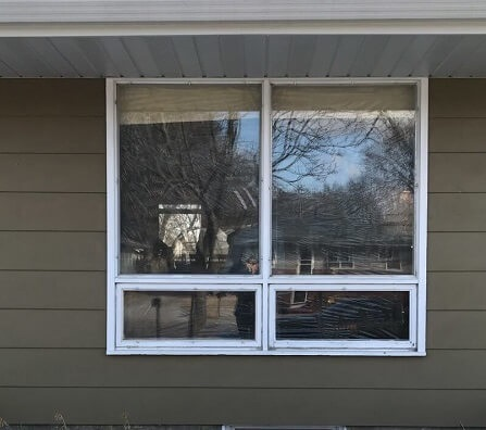 awning windows prior to window replacement