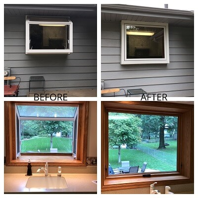 omaha home gets new wood awning window