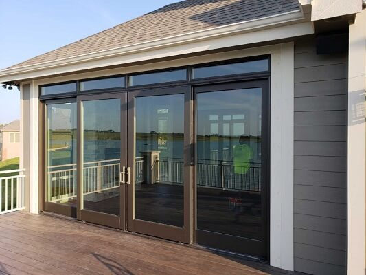 after image of omaha home with new multi slide patio door