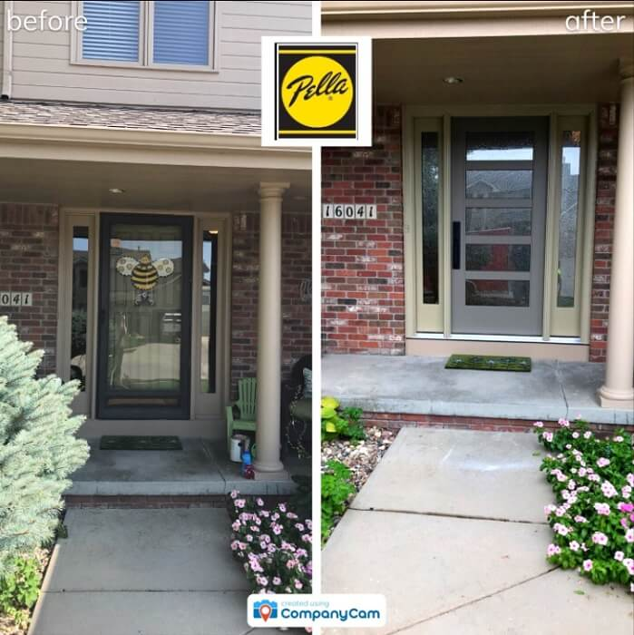 Modern Entry Door Replacement Updates Entryway