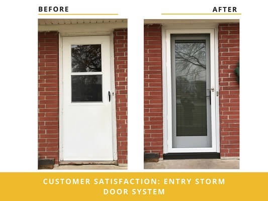 entry door transformation