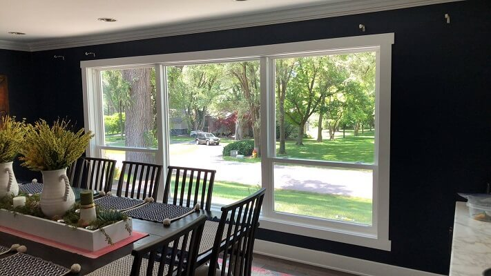Whole Home Custom Window Replacement Dinning Room Inside