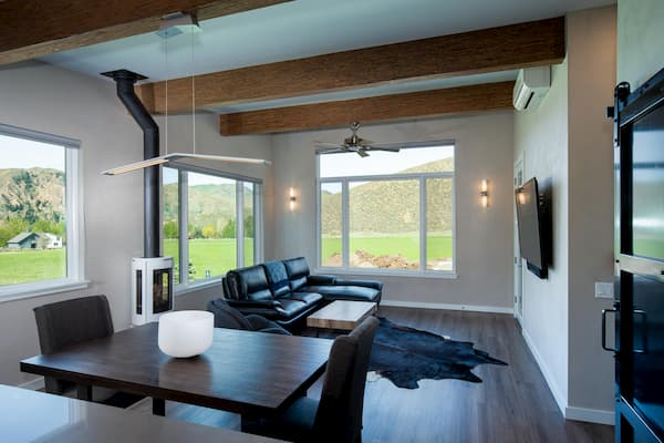 Pella Windows Complement Unique Design of Hillside Hailey Home
