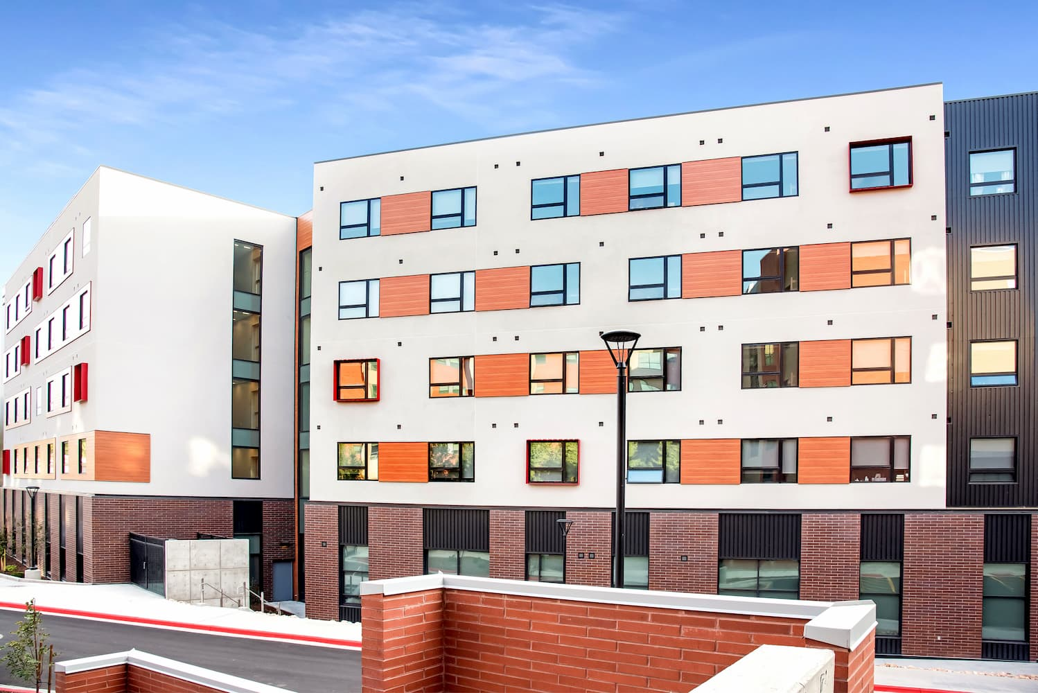 View of exterior windows of University of Utah student housing