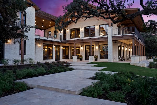 High-End Windows Complement Hill Country Mountain Ranch Home