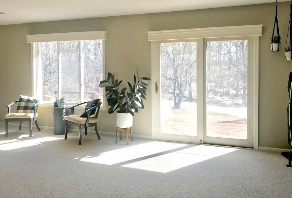 Black Sliding Patio Doors Open Up Ada Living Room Pella Of Western Michigan