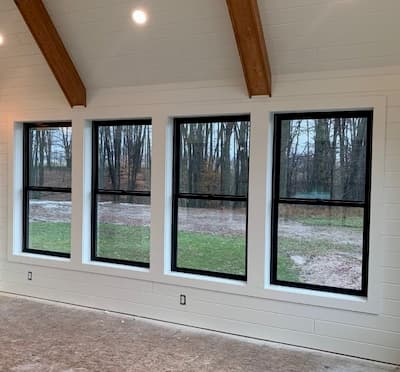 Black Fiberglass Windows Modernize Lake City Home