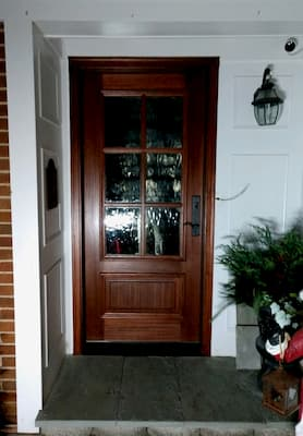 Beautiful Mahogany Entry Door Maintains Classic Appeal
