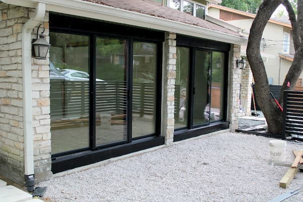 Triple Sliding Glass Doors Complete Garage Makeover