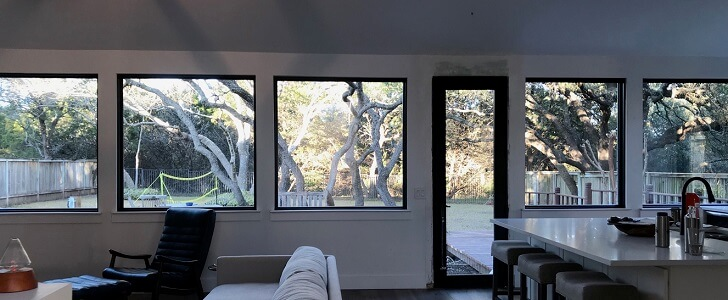 Black Windows Modernize Austin Home