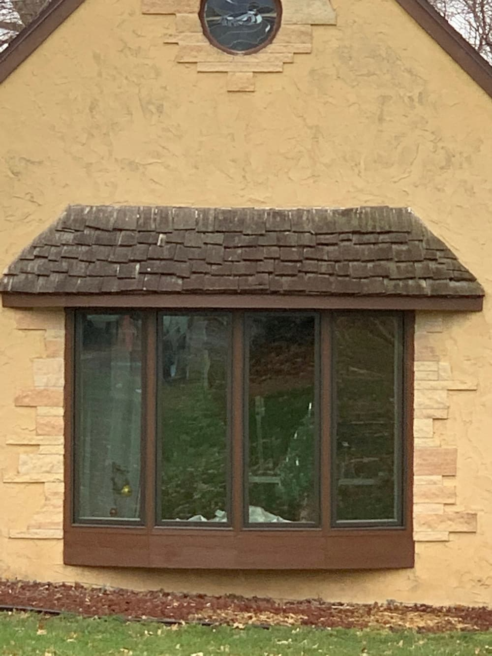 New bay window built for Marshalltown home made from concrete