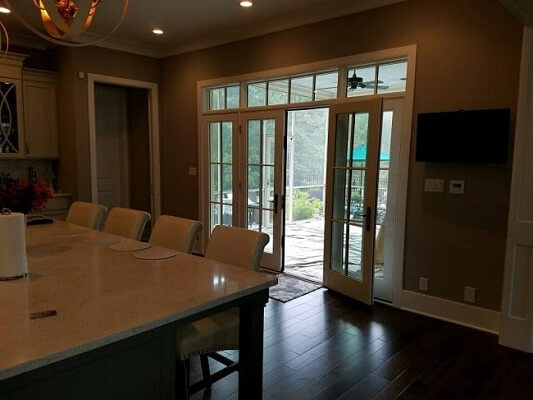 new construction home in pee wee valley kentucky gets new patio doors