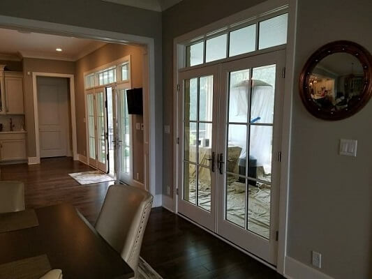 pee wee valley new construction gets new hinged patio door