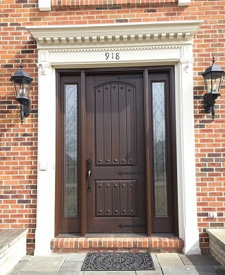 new fiberglass entry door replacement with sidelights
