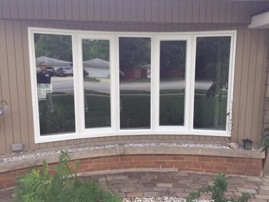 after bow casement windows in chicago home