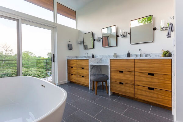 bathroom image of cincinnatti home with upstairs addition