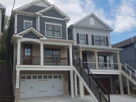 new construction town homes in cincinnati get wood windows and wood entry doors