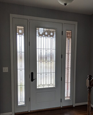 inside image of hebron home with new fiberglass entry door