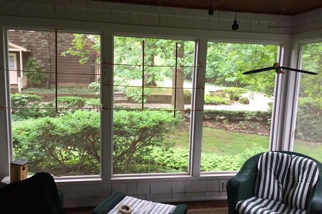 Sun room Window Replacement Before