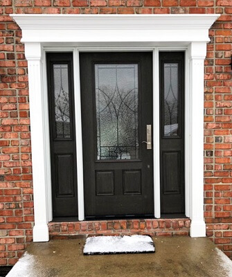 black fiberglass entry door updates cleveland home