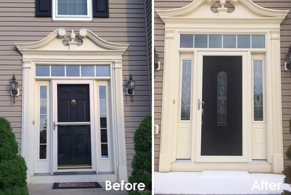 Fiberglass Entry Door Upgrades Aesthetic of Akron Home