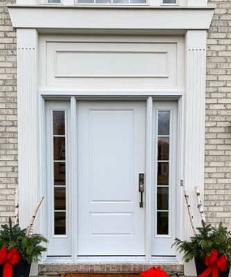 after image of avon lake home with new fiberglass entry door
