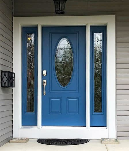 Lively Blue Entry Door for Bay Village Home