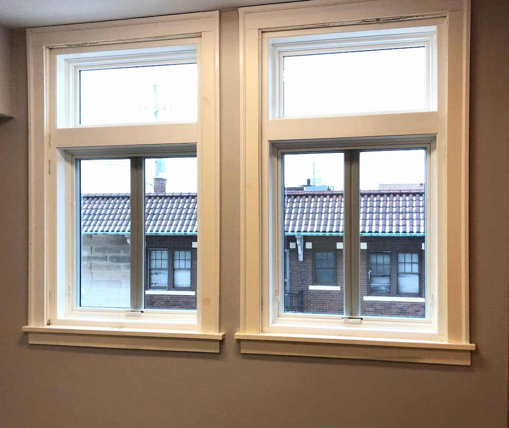 New wood casement and awning windows