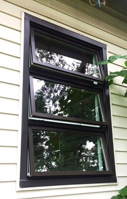 after image of cleveland home with new wood awning window