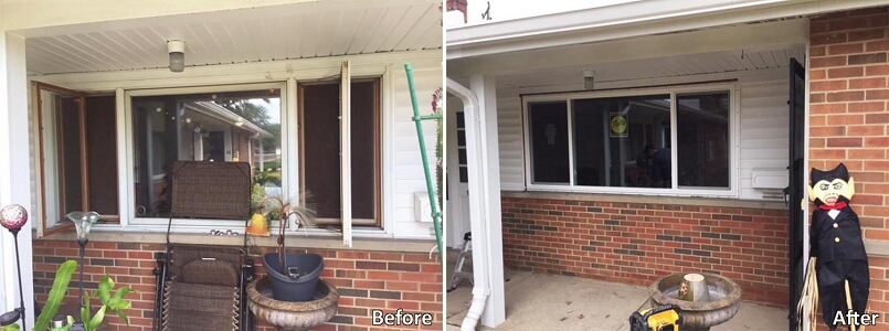 Vinyl Sliding Window Replacement Updates Ohio Home