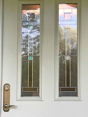 decorative glass on replacement entry door