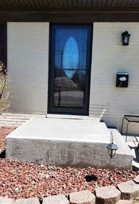 new fiberglass entry door with storm door