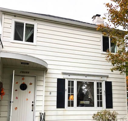 front after image of fairview home with new vinyl sliding windows
