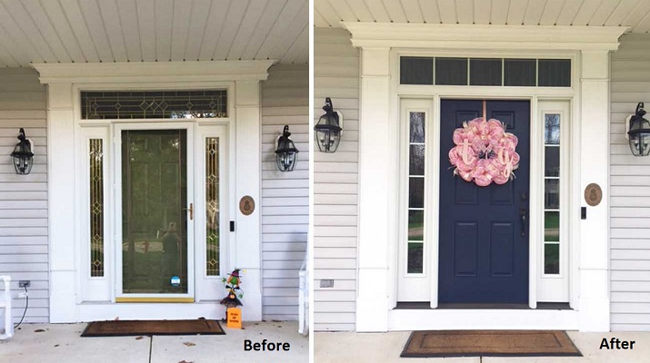 Simplified Design for A Timeless Look - Entry Door Makeover
